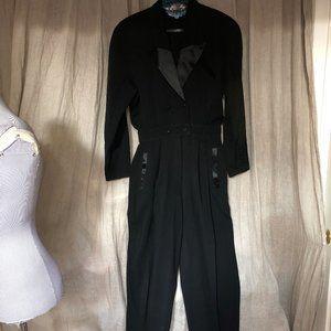 Escada SPECTACULAR black TUXEDO Jumpsuit 40